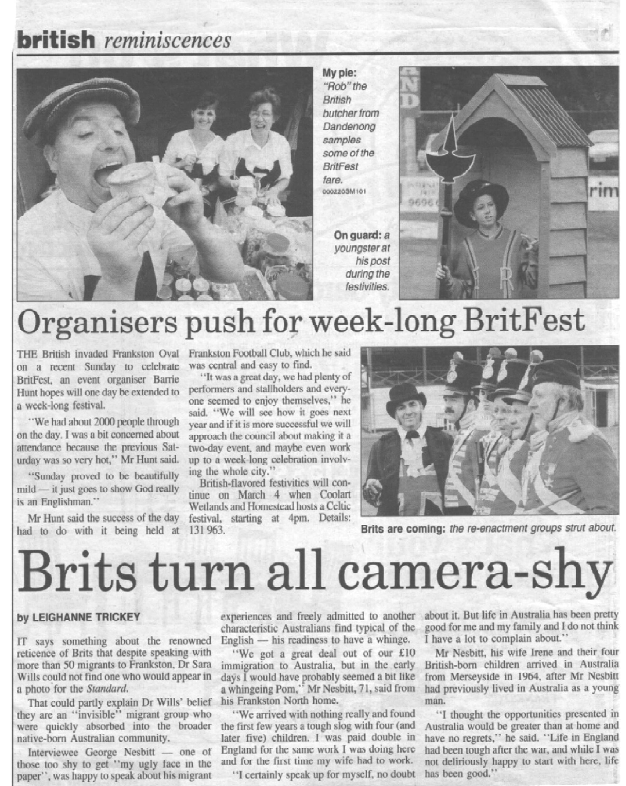 Britfest newspaper